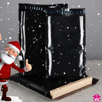 Secure black mailsacks Christmas